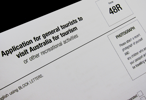 Australian Tourist Visa Application Bent Road