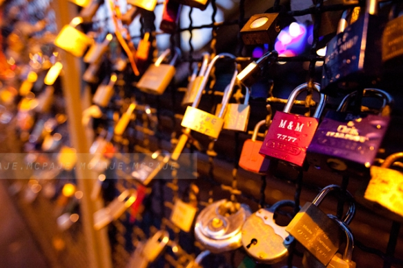 padlocks of love in germany