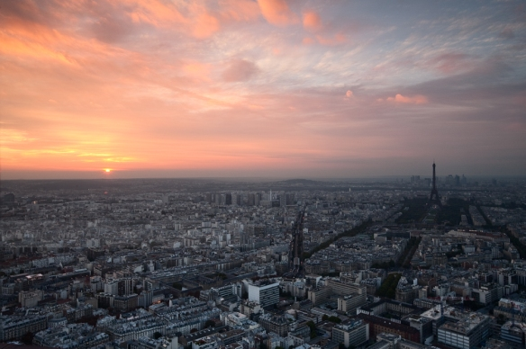 A Beautiful Paris Sunset